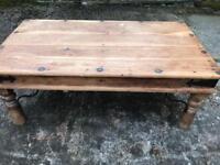 Solid Wood Coffee Table -rustic look