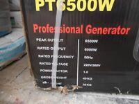 NEW Powertech PT6500w Professional Generator. Heavy Duty. Portable. 6.5hp. 4 Stroke
