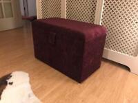 Ottoman storage Chest - fantastic condition, deep purple