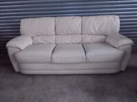 Cream Full Leather 3+2-seater Suite (Sofa)