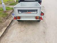Car tipper trailer erde 102 with spare wheel