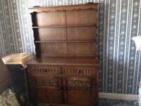 Solid oak Welsh dresser