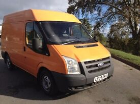 Ford Transit 09 SWB Med Roof Low Mileage Semi Converted Camper