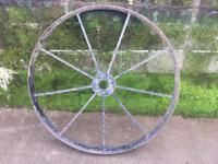 Pair of Metal cart wheels
