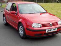 2003 VW GOLF 1.4 MATCH 3 DOOR IN MARS RED...1 Former owner