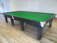 Full Size Snooker Table Fully Restored in Satin Black Finish with Free Delivery and Installation