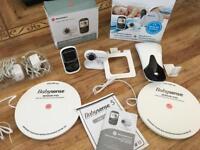 Baby visual monitor and baby sensor panels