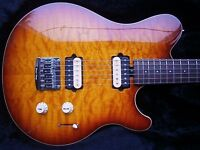 ERNIE BALL MUSIC MAN AXIS SUPER SPORT Hardtail 2012 HH Quilted maple honeyburst Musicman EVH USA US.