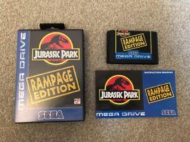 Sega Mega Drive Game Jurassic Park