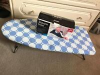 Table Top/Travel Ironing Board and Iron