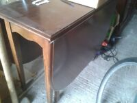 Old style fold down table