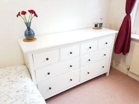 IKEA White Chest of Drawers (Hemnes)