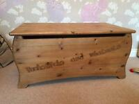 Solid pine toy box