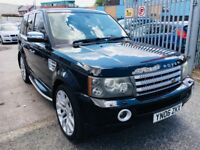 "LANDROVER RANGE ROVER SPORT 2.7 TDV6 HSE DIESEL AUTOMATIC BLACK LEATHER SATNAV 22"" ALLOYS"