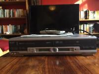 Vintage SHARP VCR/DVD/CD Player with Original Manual & Remote