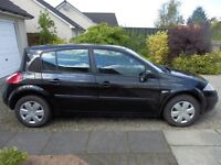 Black Renault Megane 1600 with 12 months MOT