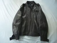 "M & S Leather Jacket, size 38""-40"" Chest size."