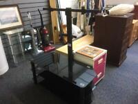 Black Glass TV stand with bracket #42677 £45
