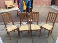 Set of 4 - Wooden Dining Chairs
