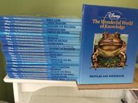 Disney children's 'The wonderful world of Knowledge' 24 Hardback books