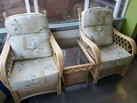 Cane conservatory furniture