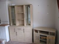 Tall Wall Display Unit and corner entertainment unit.