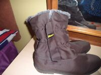 Damart fur lined brown boots size 6.