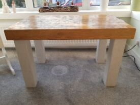 Hand Made Solid Oak Wood Coffee Table Rustic, Vintage, Antique