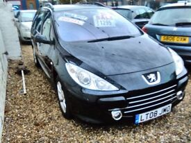 2008 Peugeot 307 1.6 diesel estate 131.000 miles the car is sold with a full year mot very tidy car
