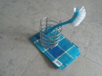 Tea towel, Pot Cleaner + Utensil Holder