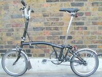 Excellent Condition Brompton Folding Bike With Unused Brompton Basket