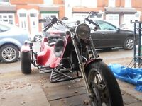 wv phenix trike in metalic red great condition