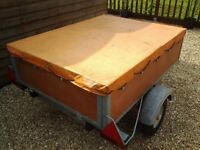 small galvanised trailer 4ft 6 by 3ft 6 ideal camping trailer