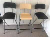 Three Franklin Ikea bar chairs