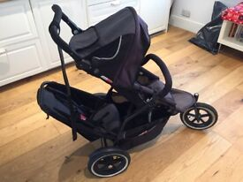 Phil & Teds double buggy with extras