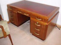 Art Deco [1930's] Bank Managers Desk. Mahogany Veneer?