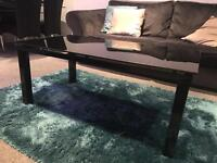 Harvey's Black Glass Coffee Table