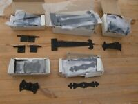 gate hinges. cabinet hinges. butterfly hinges. corner fittings as priced. boxed. more available