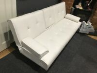 Couch Bed Contemporary style in White