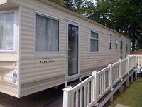 Haggerston Castle Holiday park 8 berth caravan for hire .