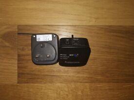 BT Broadband Extender 500 x2 with Ethernet port Homeplugs Black * LS17 & Post *