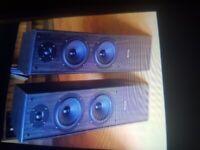 Acoustic solutions AV120-floorstanding speakers £50.00