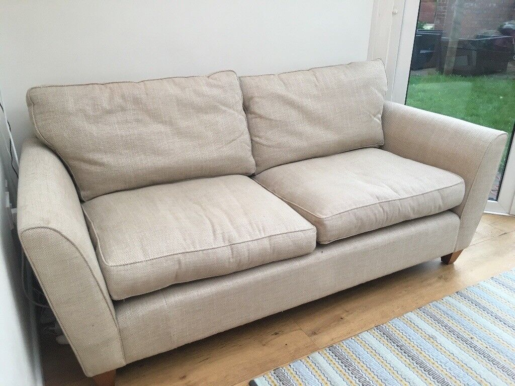 laura ashley ashton fabric large 2 seater sofa in anneliese natural fabric in caerleon. Black Bedroom Furniture Sets. Home Design Ideas