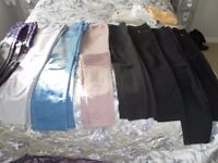 9 pairs of ladies trousers Sizes 10/12