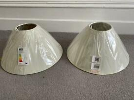 2 Off White Lampshades