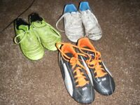 3 pairs of Boys Football Boots - various sizes