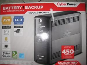CyberPower 1500VA 10 Outlet UPS Battery Back Up with USB. 900W. Surge Protector. For Office / Network / Computer / Elect