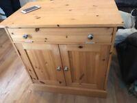Solid Pine hideaway computer desk