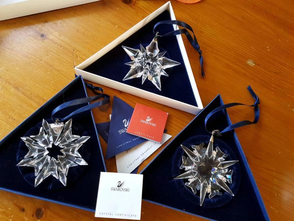 3 Swarovski crystal Christmas tree ornaments | in Allerton ...