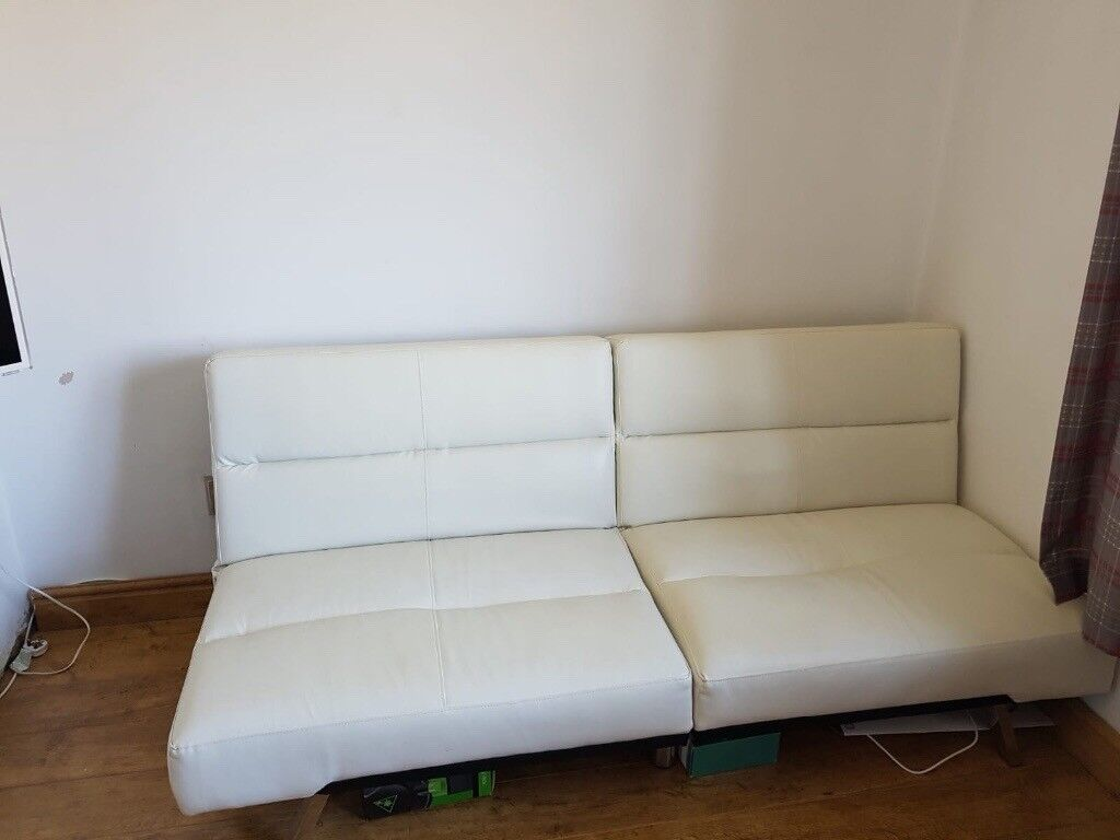 Astounding White Leather Sofa Bed Would Look Nice In A Conservatory In Stockton On Tees County Durham Gumtree Pdpeps Interior Chair Design Pdpepsorg